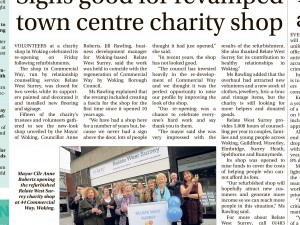 Signs good for our revamped charity shop